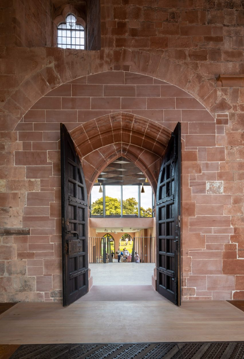 The entrance to The Fratry at Carlisle Cathedral by Feilden Fowles