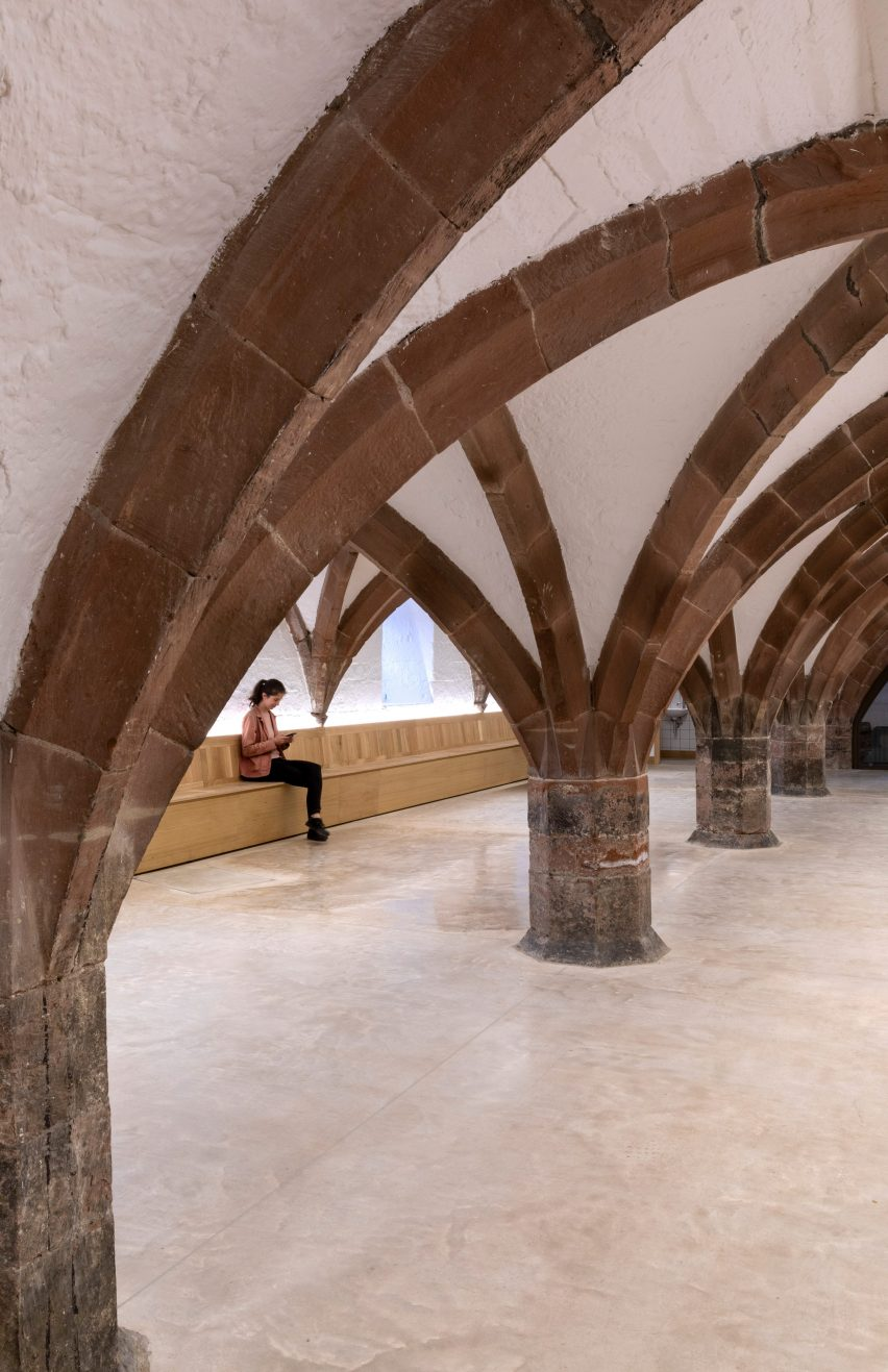 The undercroft of The Fratry at Carlisle Cathedral by Feilden Fowles