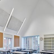 Classroom in eaves of the structure