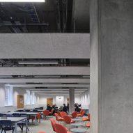 Classroom with concrete columns