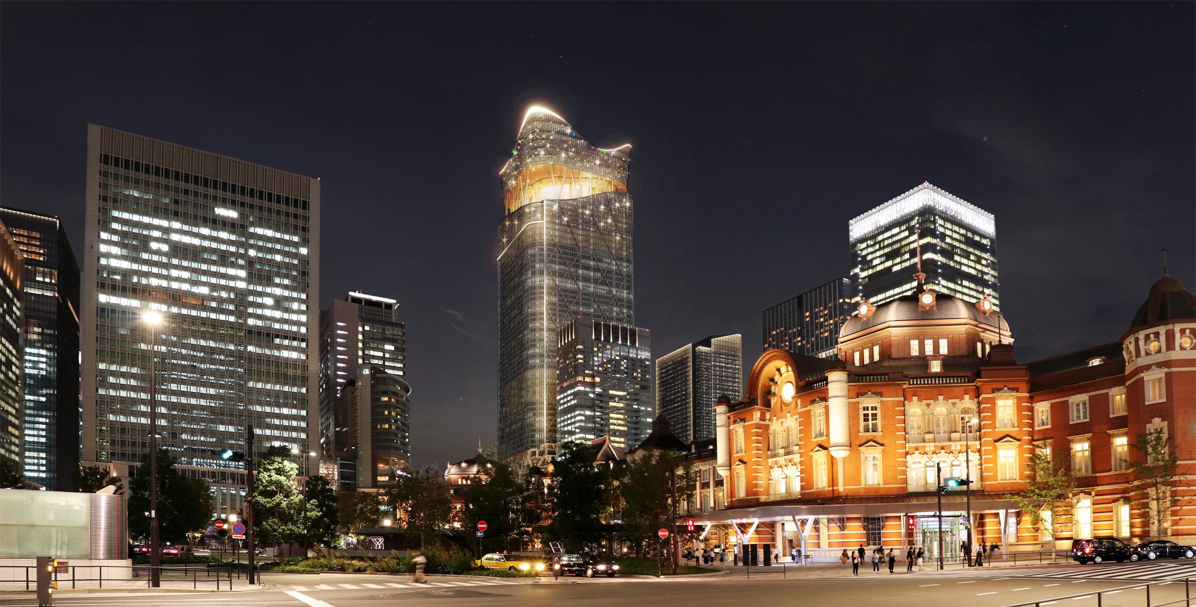 A visual of a supertall skyscraper in Tokyo, Japan
