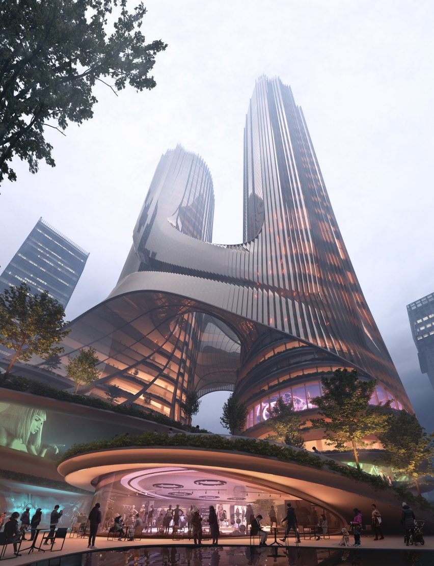 A visual from the terraces of Tower C by Zaha Hadid Architects in Shenzhen