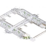 Plan of Train Station in the Forest by MAD