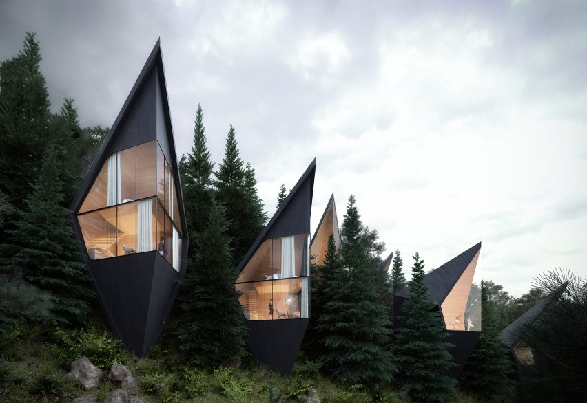 Tall design within the tree-line