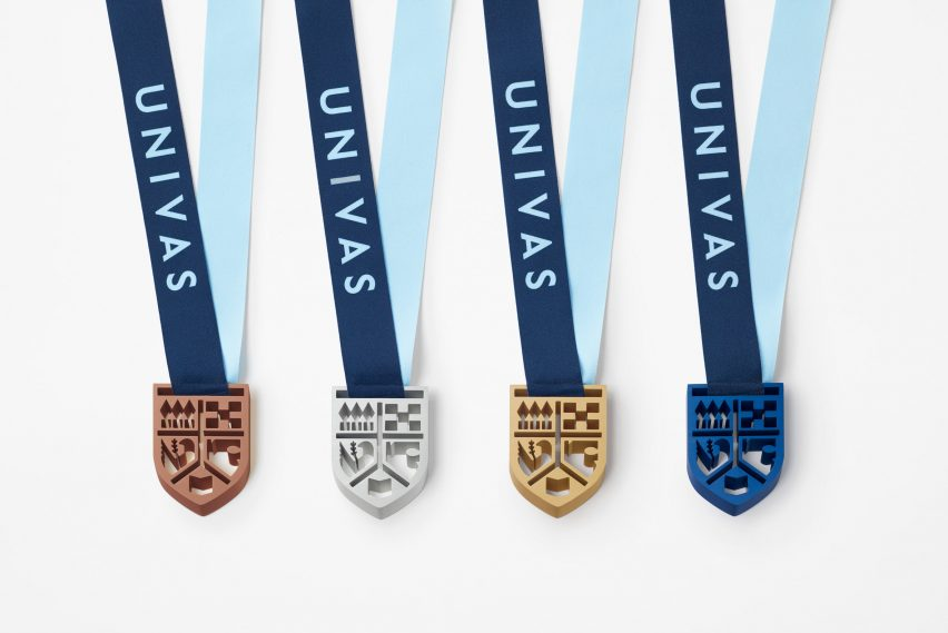 Medals by Nendo for UNIVAS