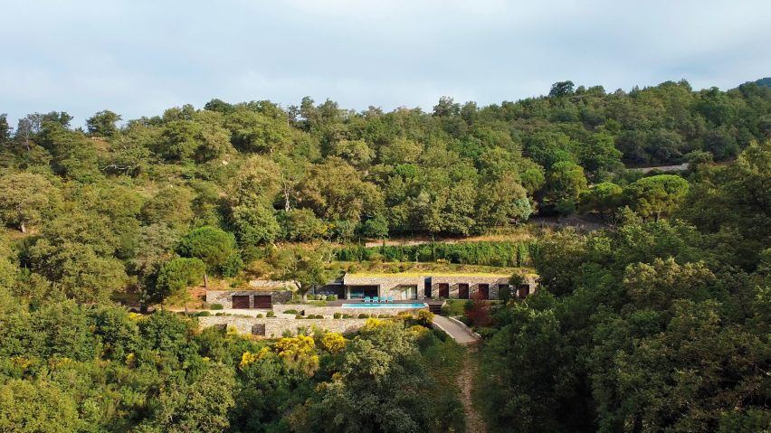 Aerial view of Villa Nemes by Giordano Hadamik Architects