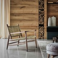 Armchair at Villa Nemes by Giordano Hadamik Architects
