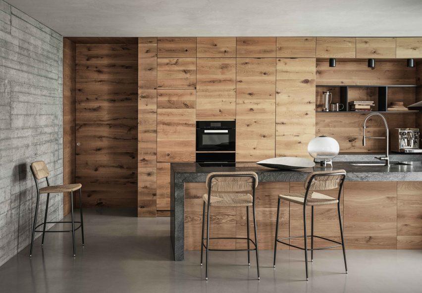 Kitchen at Villa Nemes by Giordano Hadamik Architects