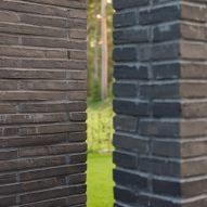 The brick exterior of Villa Tennisvägen by Johan Sundberg Arkitektur