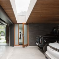 The garage of Villa Tennisvägen by Johan Sundberg Arkitektur