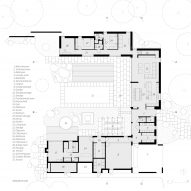 Ground floor plan for Villa Tennisvägen by Johan Sundberg Arkitektur