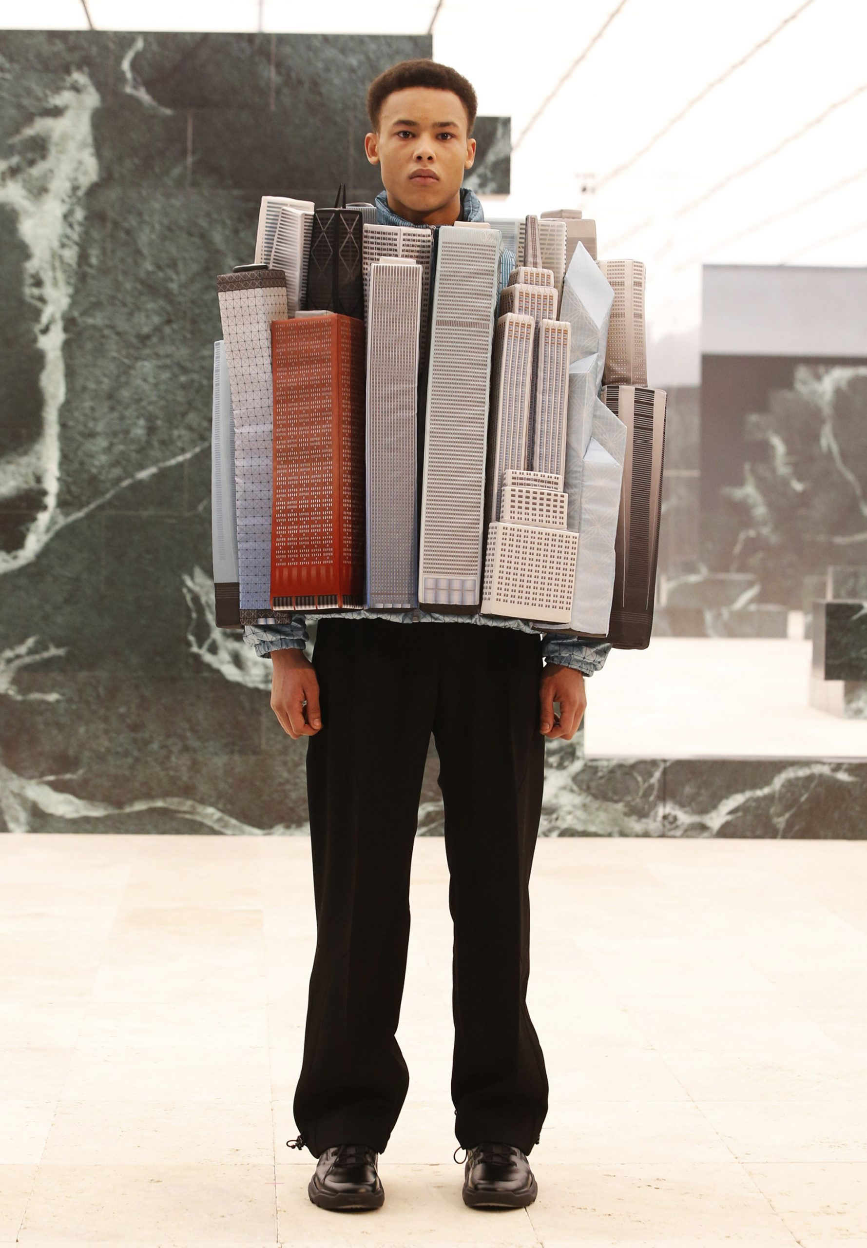 New York City skyline puffer jacket