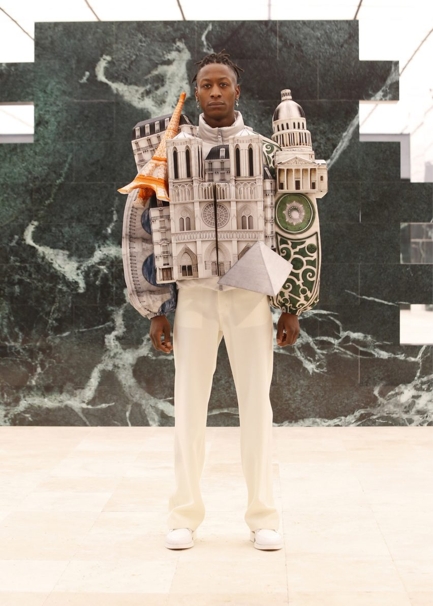 Paris skyline puffer jacket by Virgil Abloh