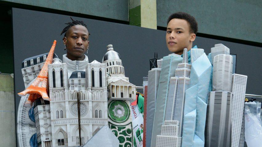 Virgil Abloh creates Paris landmark and skyscraper puffer jackets for Louis Vuitton