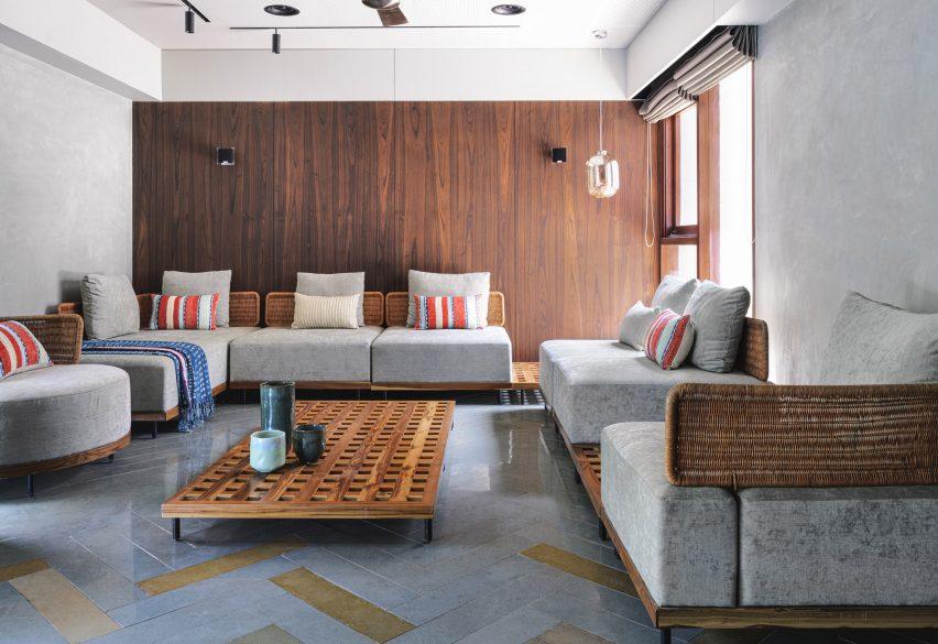 Living room of VS House, India, by Sãrãnsh