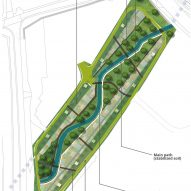 A proposed landscape plan for an orchard between Water Orton viaducts