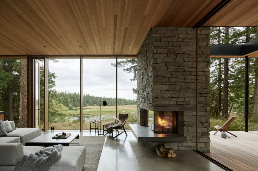 Living room of Whidbey Island
