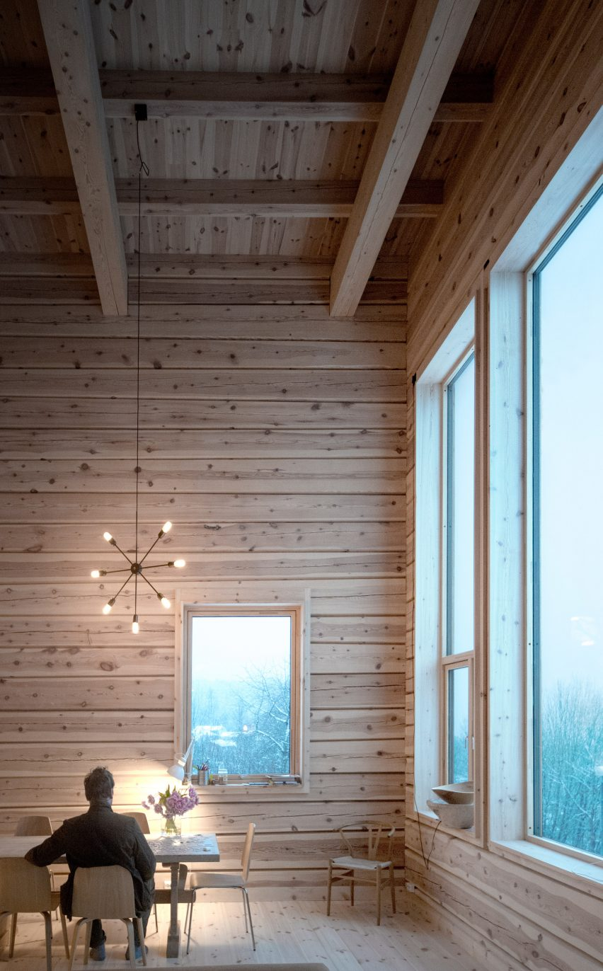 Living room in Norwegian house