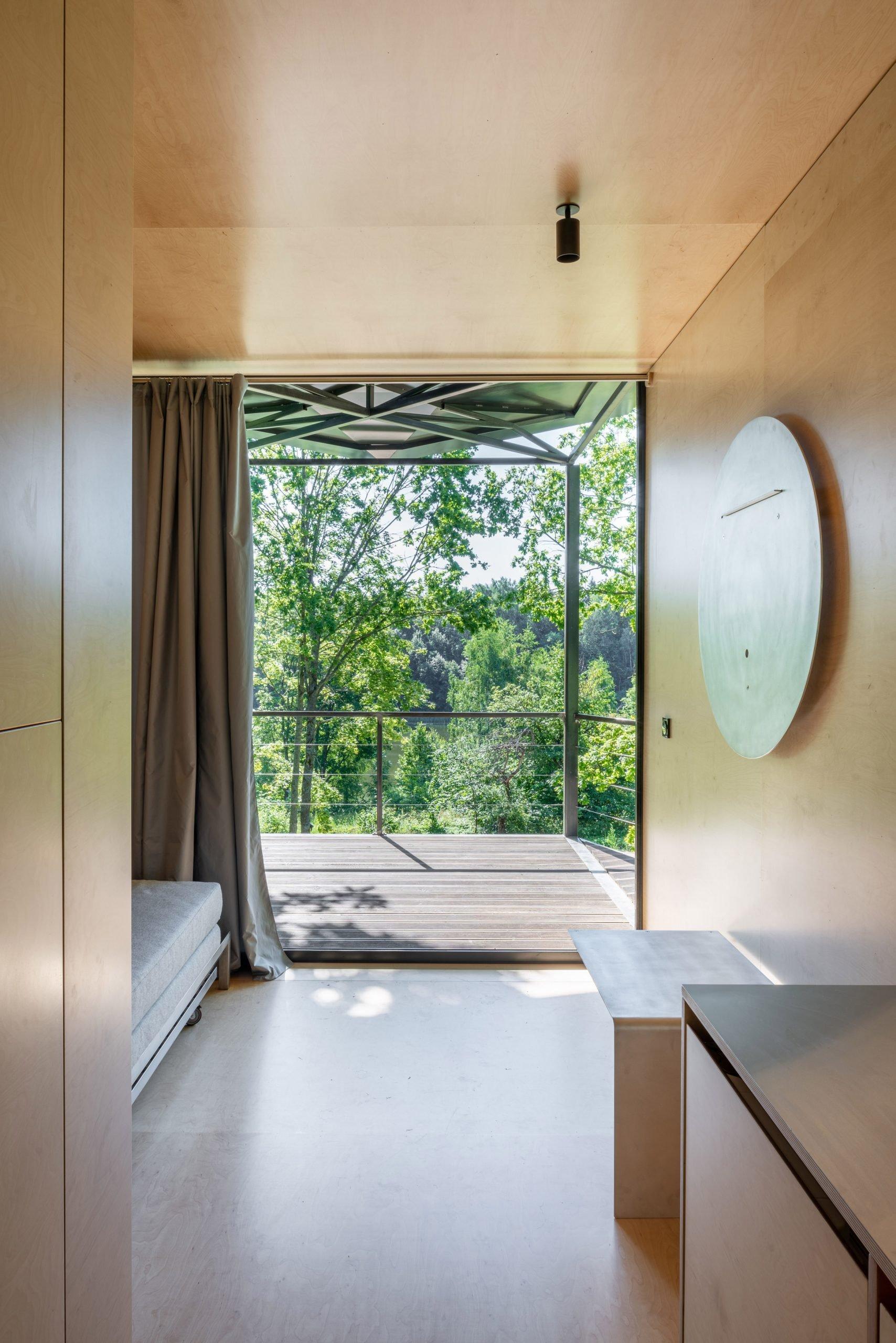 Bi-fold doors of 019 Cabin by ŠA Atelier and Piritas