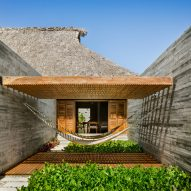 Large thatched roof covers Casa Cova in Mexico by Anonimous