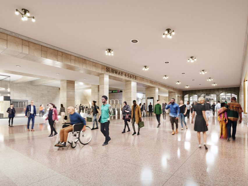 SOM plans to improve subway access as part of its plans for 175 Park Avenue