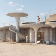 Asbury Beach Club proposal for Jersey Shore features sandy concrete canopies