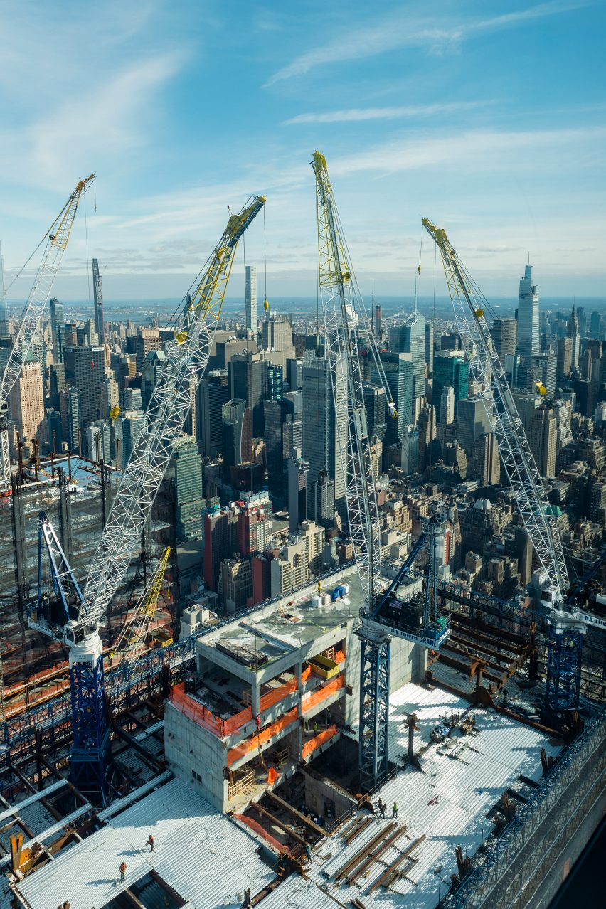 Construction work at 50 Hudson Yards
