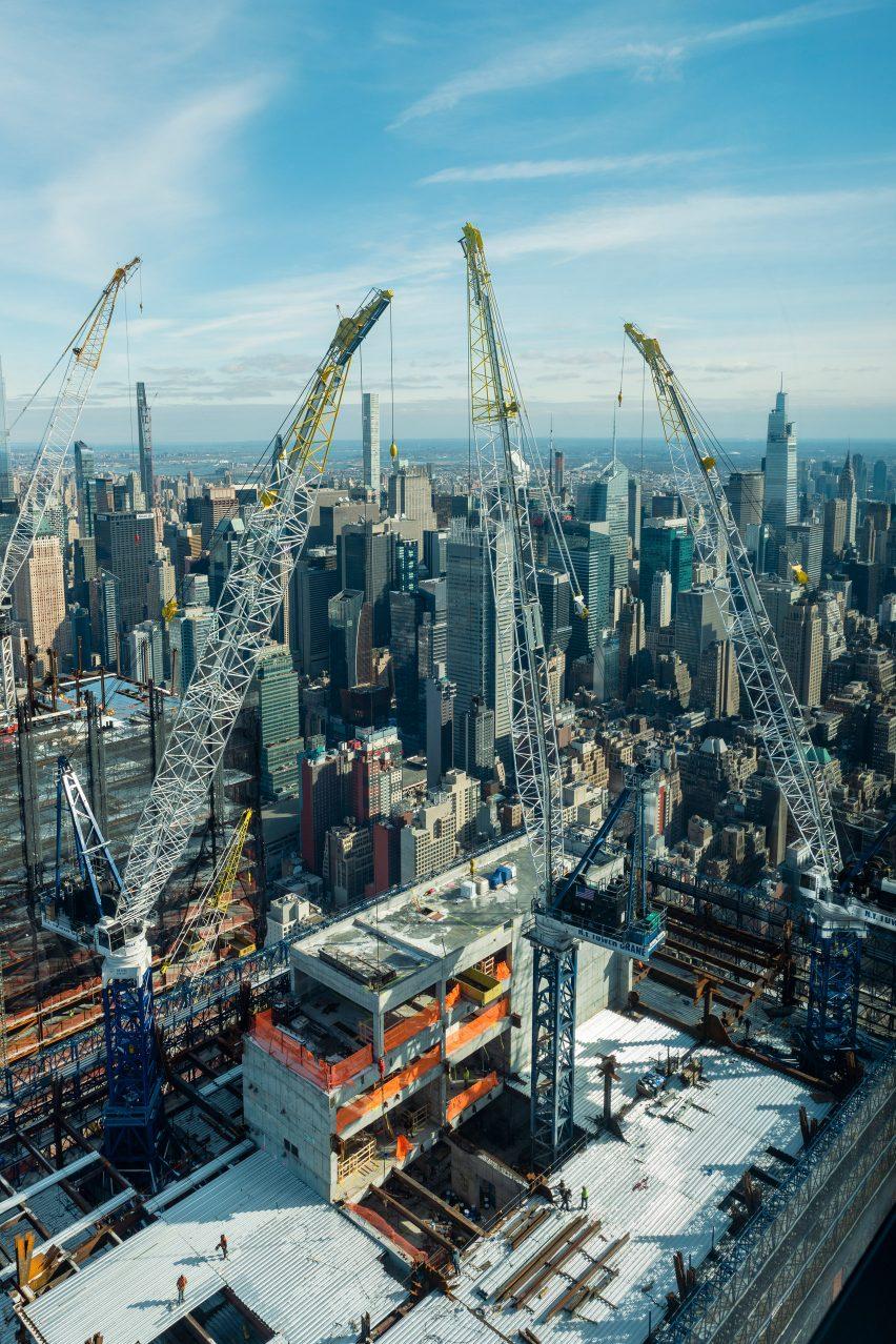Construction work at 50 Hudson Yards