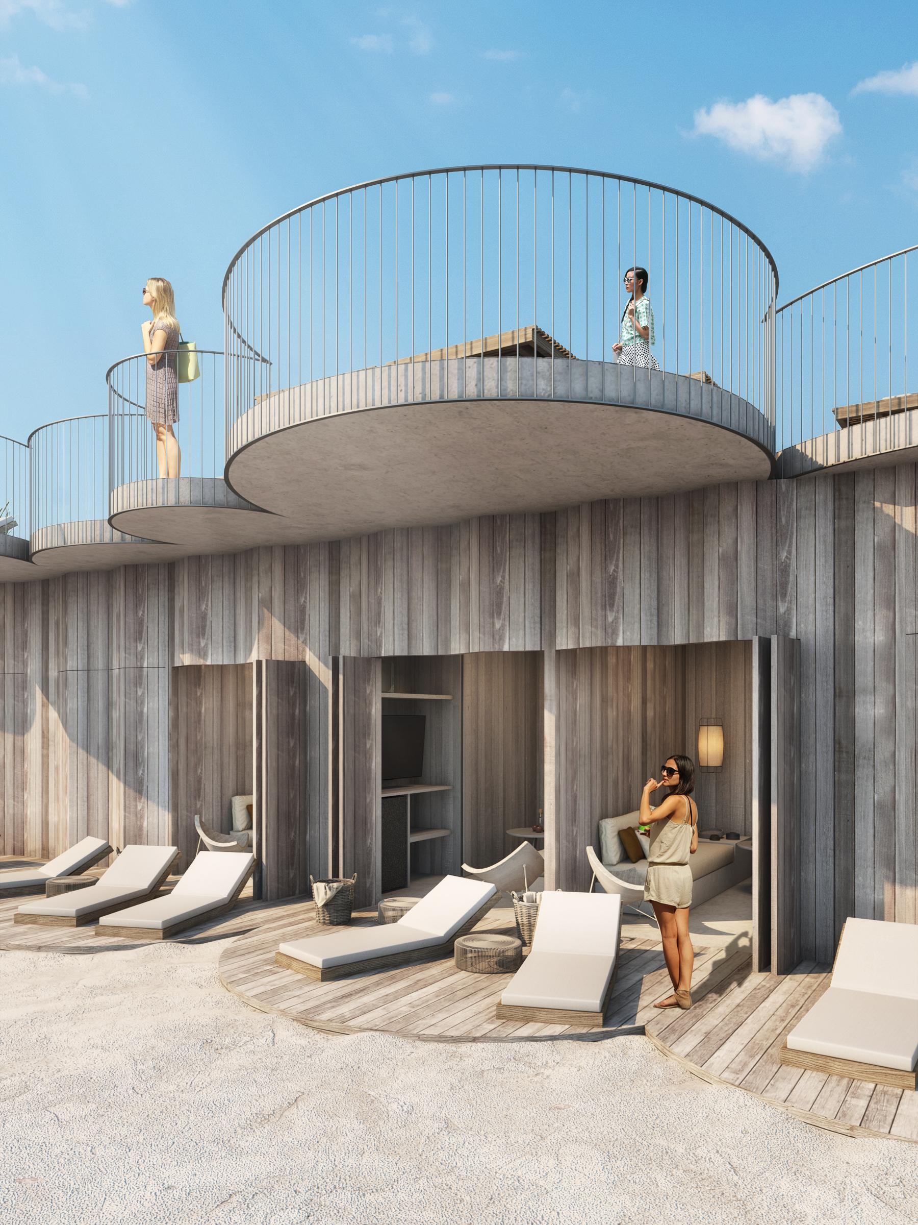 An exclusive cabana at Asbury Park