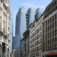 KPF designs trio of interconnected skyscrapers for London