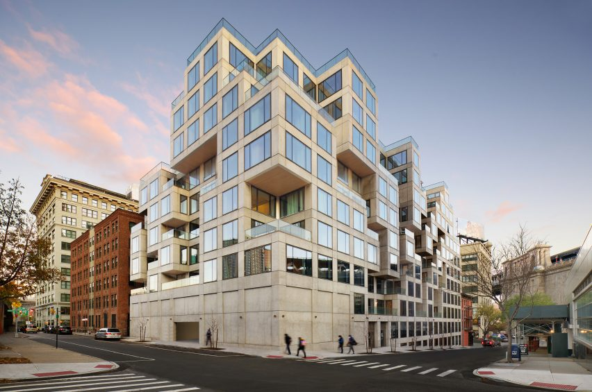 98 Front by ODA has a glass and concrete facade