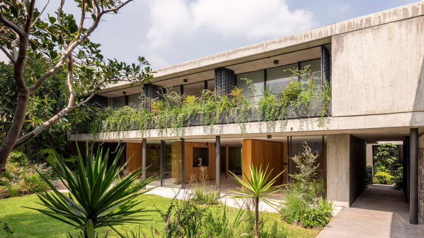 The dwelling incorporates more greenery