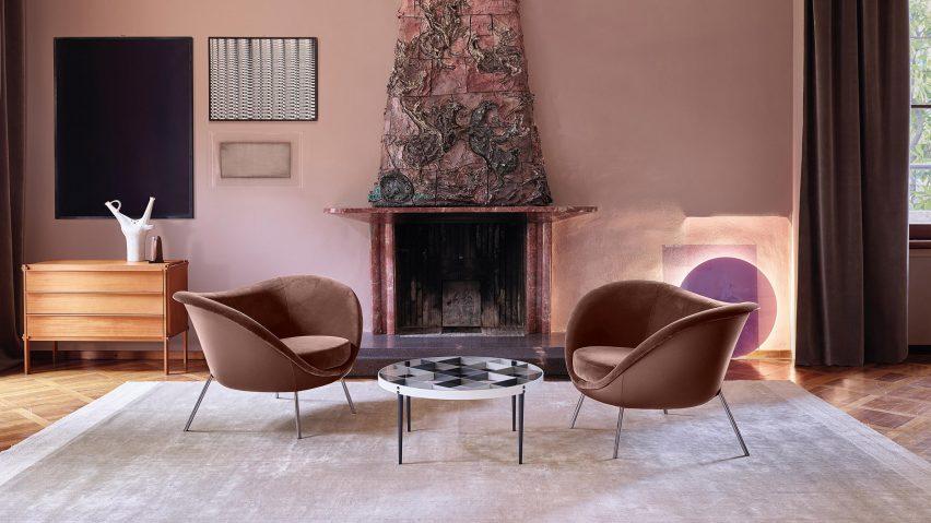 D.154.2 by Gio Ponti via Molteni&C in a living room interior