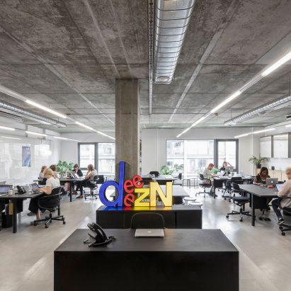 Dezeen's office in Hoxton, London