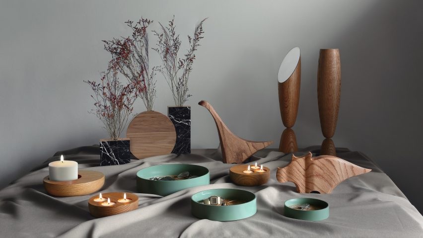 Decorative objects from In the Centre of the Table by Joel Escalona and students from CENTRO university