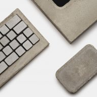 A close up of a clay keyboard and mouse