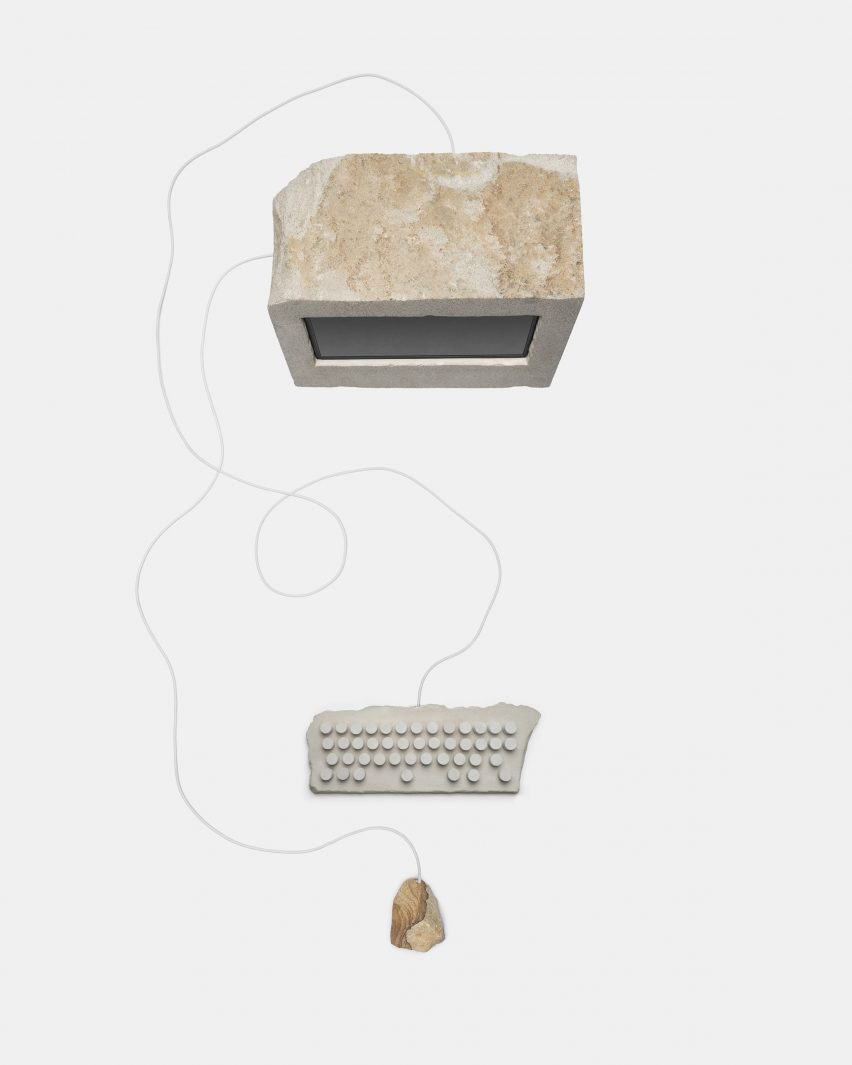 Limetone computer, keyboard and mouse