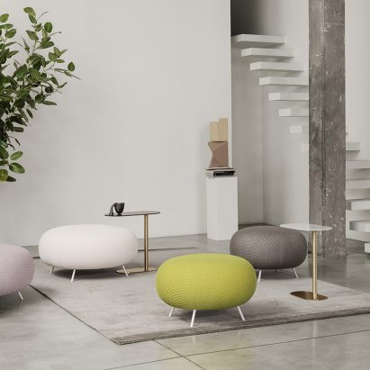 Gioia pouf by Raffaella Mangiarotti for IOC Project Partners