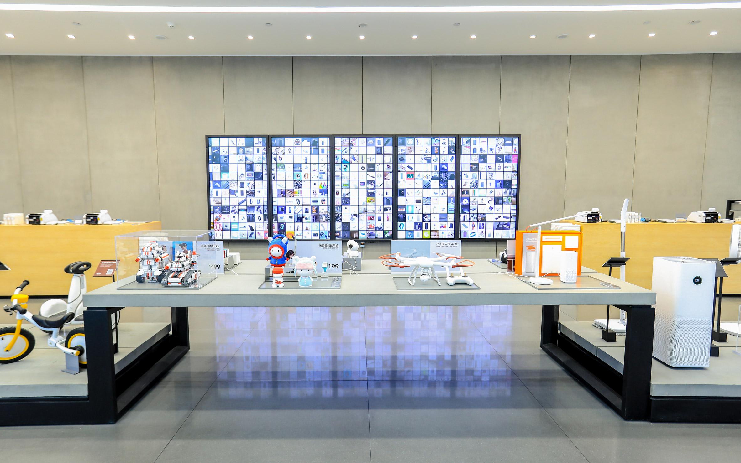 Interior of Xiaomi flagship store in Shenzhen