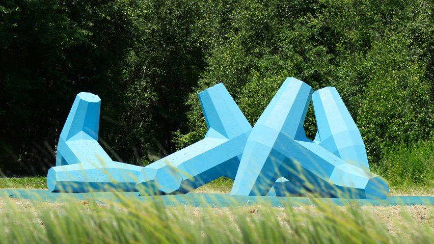 A view of Breakwater from afar as a public art sculpture