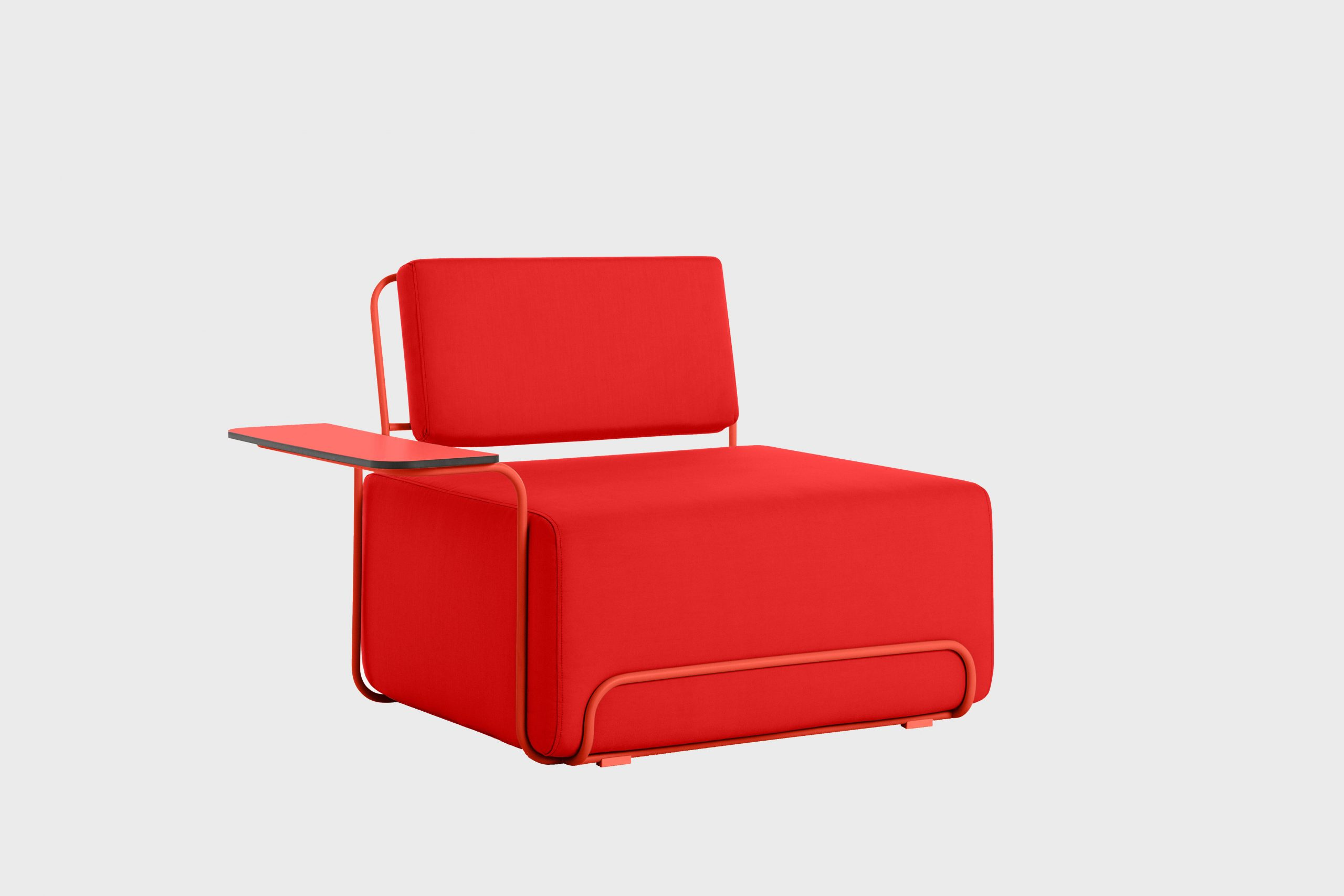 Lilly lounge chair in red