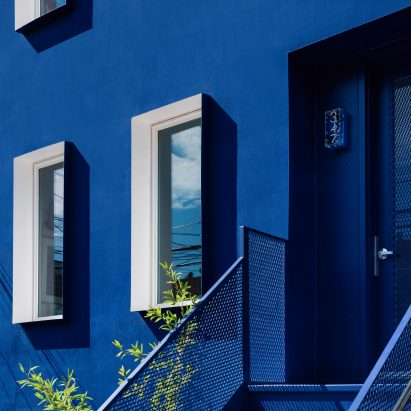 The Blue Building is an all-blue property in Bushwick