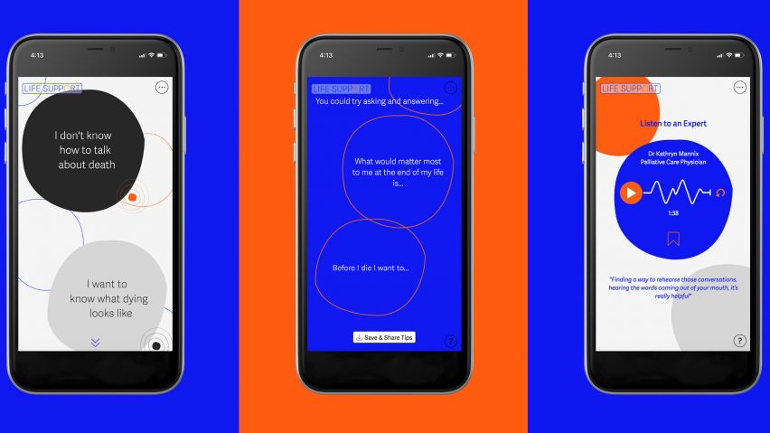 Life Support is a digital tool designed to help users cope with death