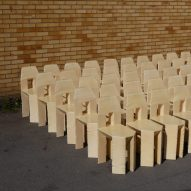 Max Lamb crafts 60 handmade chairs in three days