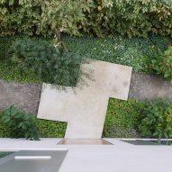 Concrete paving at entrance