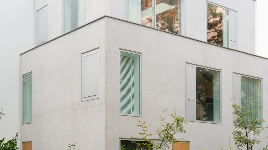 White stacked Berlin apartments