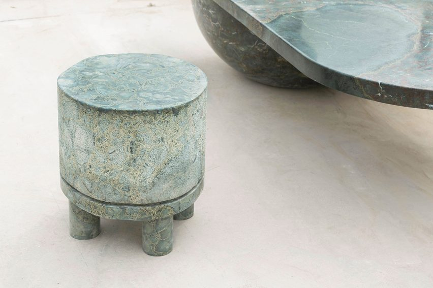 A stool cum side table featured in Rooms' Life on Earth collection