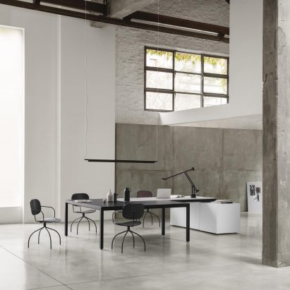IOC Project Partners workstation in an industrial office space