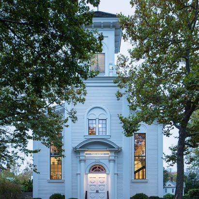 An exterior view of The Church in Sag Harbour by Skolnick Architecture