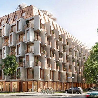 Modular protruding facade by UNStudio
